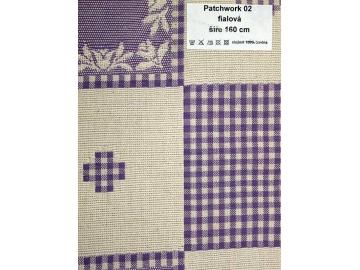 Patchwork 02 fialová