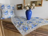 Napron modrá růže