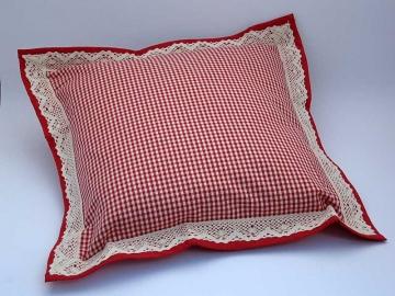 Polštářek obšitý 40 x 40 cm Piko 04 červená