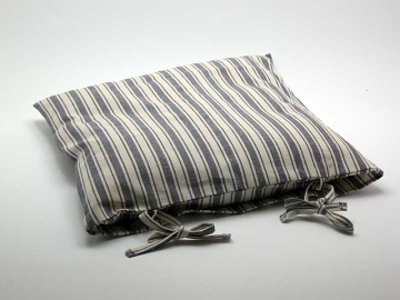 Potah na sedák 40 x 40 cm Pruh Bára modrá
