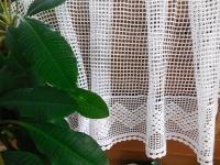 Paličkovaná vitráž bílá