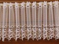 Vitráž bílá - bordura - výška 29 cm