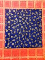 Betlémská zlatá hvězda na modré