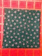 Stříbrná hvězda 2cm na zelené
