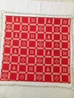 Kanafas - pačvork malý červený