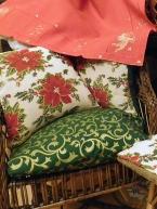 Povlak na sedák Baroko zelené