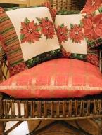 Povlak na sedák Zlatá kostka na červené