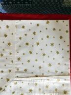Napron Zlatá hvězda na vanilce s lemem