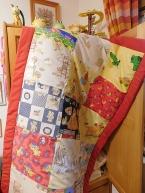 Dětská deka ruční pačvork s rámem
