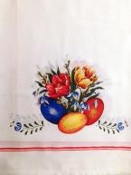 Ubrus Vajíčka na bílé - vnitřní lem