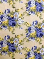 Modrá růže na bílé