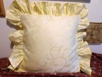 Povlak s kanýrem Ornament vanilka světlý