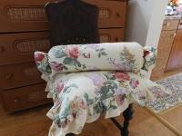 Povlak na polštář anglická růže s kanýrem