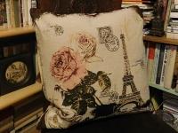 Povlak na polštář růže z Paříže