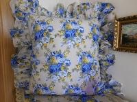 Povlak na polštář modrá růže