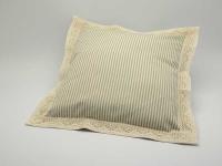 Polštářek obšitý 40 x 40 cm Pruh 04 béžová