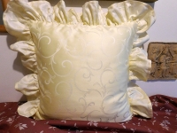 Povlak s kanýrem Ornament vanilka tmavý