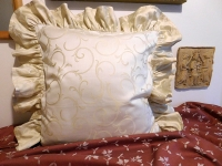 Povlak s kanýrem Ornament béžový světlý