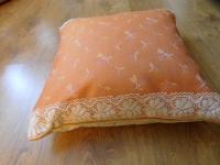 Povlak na polštář oranžový tulipánek